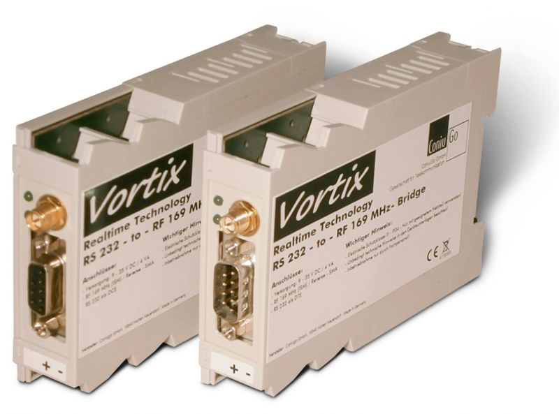 Vortix RS232 to RF169 MHz Funkbridge