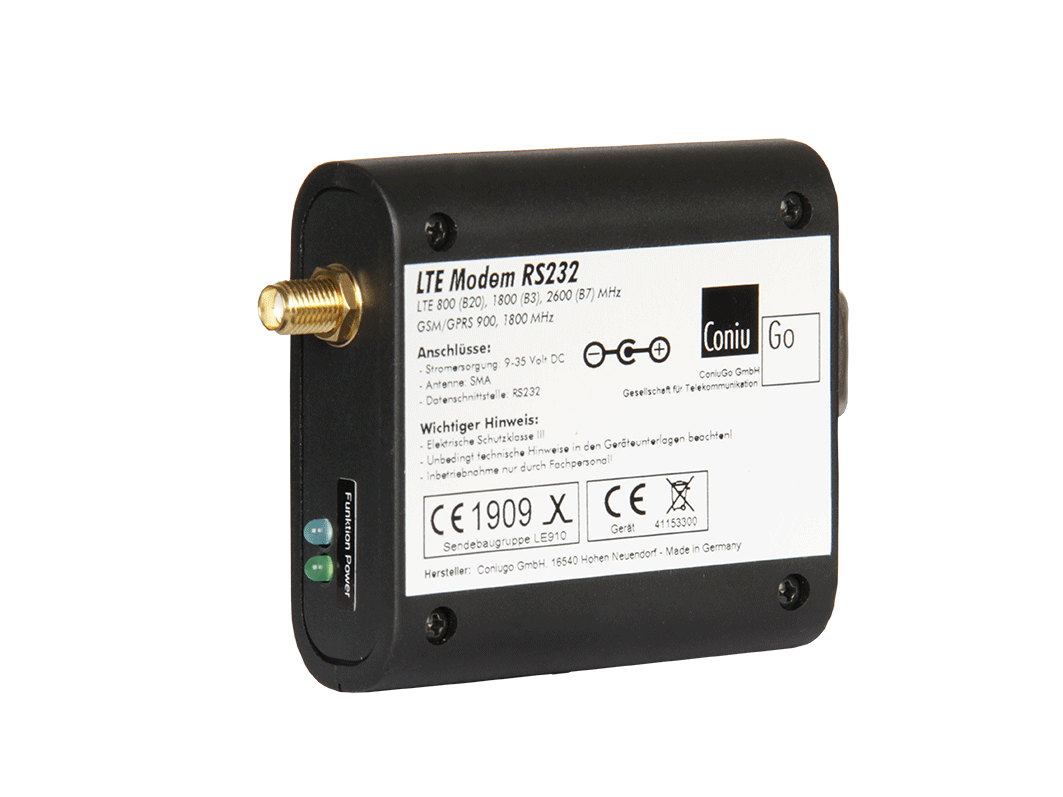 LTE Quadband Modem RS232 with Led's
